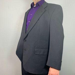 BURBERRYS Windowpane dark gray sport coat Size 46R
